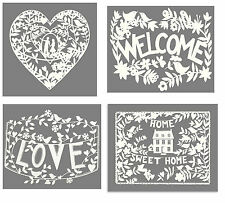 Metal Vintage Shabby Chic Home  Welcome Love Heart Plaque Wall Art Decoration