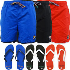 Mens Shorts - Toyko Laundry Swimming Short with FREE Flip Flops