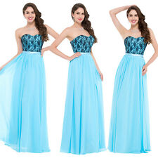 Strapless Long Bridesmaid Formal Gown Ball Party Cocktail Evening Prom Dress New