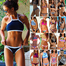 Sexy Womens Push Up High Waisted Swimwear Bikini Set Swimsuit Padded Beachwear