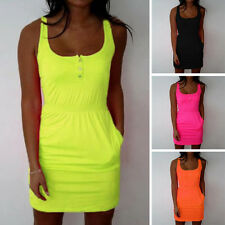 Fashion Women Lady Casual Sleeveless Vest Blouse Summer Shirt Long Tops Dress YG