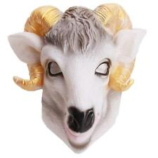 Silicone Sheep Devil Head Mask Halloween Fancy Dress Party Cosplay Costume - LD