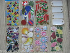 Sticko Stickers Glitter Shoes Flowers Seashells Roses Christmas Butterflies Tags
