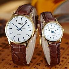 Unisex Fashion Hot Retro Watch, Couple Watches, Men Women Watch PU Leather - LD
