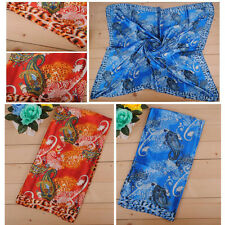 New Women Print Leopard Long Soft Bandana Scarf Neck Wrap Shawl Stole Scarves NW