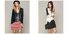 NEW Free People Womens Project Castaway Ruffle Asymmetrical Mini Skirts Skirt