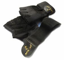 Neoprene Gym Gloves LEATHER Weightlifting weight lifting wrist Support body