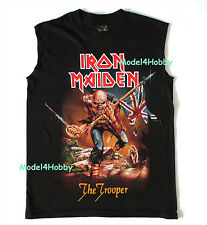 IRON MAIDEN Sleeveless T-Shirt Black S M L XL THE TROOPER HM REAPER FLAG SWORD