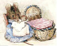 Hunca Munca & Cradle ~ Two Bad Mice~Beatrix Potter~Counted Cross Stitch Pattern