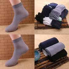 10 Pairs Comfortable Soft Man's Thin Socks Solid Color Adult Socks Summer Socks