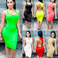 Sexy Lady Bandage Bodycon Sleeveless Clubwear Party Cocktail Pencil Mini Dress