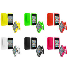 Holster Hard Slide Case Cover with Swivel Belt Clip Stand for iPhone 4 4G