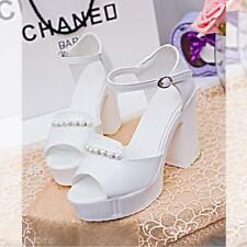 Women's Lady Sexy Casual High Heel Platform Peep Toe Buckle Wedges Sandals Shoes