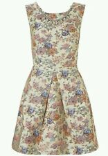 MONSOON PEYTON WRAP DRESS CREAM FLORAL CROSSOVER BACK & NECKLACE RRP £79 SIZE 16