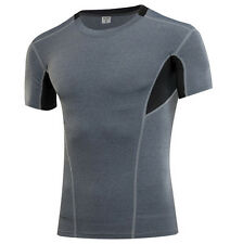 Mens Compression Base Layer Under Skins Sports Fast Drying T Shirts Top Tights