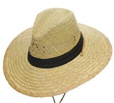 NEW! Sunny Beach Straw Hat with Black Band (Sizes S M L XL)