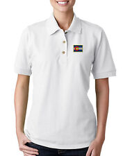 Colorado Flag State  Embroidery Embroidered WOMAN 100% Cotton Polo Shirt Top