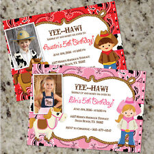 YEE-HAW Cowboy / Cowgirl Birthday Party Invitations - FREE SHIPPING!