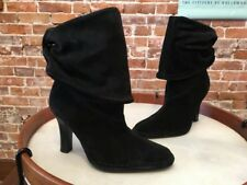 Hot in Hollywood Black Suede Slouchy Ankle Boots