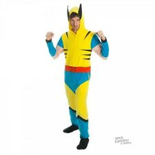 Wolverine Costume Marvel Adult Licensed Union Suit One Piece Pajama S-XXL