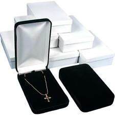 Black Velvet Necklace Chain Jewelry Gift Box Showcase Displays Kit