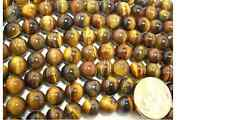 10mm Round Tigers Eye Beads on Temporary Strand