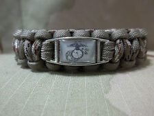 United States Marine Corps DESERT TAN & CAMO Paracord SURVIVAL Bracelet w Buckle