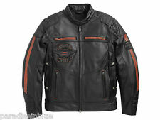 Harley Davidson Mens EXMOOR Reflective Winged Leather Jacket M XL 2XL 97106-16VM