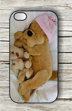 DOG TOY PLUSH MOTHER AND PUPPIES CASE FOR iPHONE 4 5 5C 6 -hyg5Z