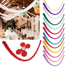 3m Paper Garland Bunting Banner Baby shower Wedding Hanging Decor (choose color)