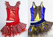 GIRL 2/4 PIECE SCOTTISH TARTAN TUTU DANCE COSTUME PAGEANT HIGHLAND DANCING PARTY