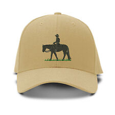 Pleasure Rider Horse Embroidery Embroidered Adjustable Hat Baseball Cap
