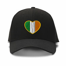 Heart Ireland Flag Embroidery Embroidered Adjustable Hat Baseball Cap