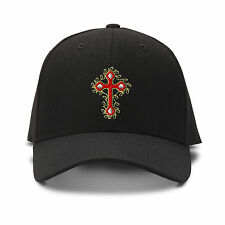 Cross Jesus Christian Embroidery Embroidered Adjustable Hat Baseball Cap
