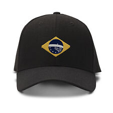 Brazil Flag Seal Embroidery Embroidered Adjustable Hat Baseball Cap