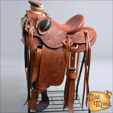 WD90ST HILASON BIG KING SERIES WESTERN WADE RANCH ROPING COWBOY SADDLE 15 16 17