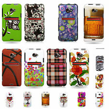 Hard Rubber Snap On Plastic Custom Design Phone Cover Case For HTC Evo 4G LTE