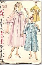 4972 Vintage Simplicity Sewing Pattern Misses 1950's Duster Negligee Housecoat
