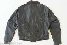 Harley Davidson Men's Vintage Embossed Eagle Bomber Style Leather Jacket XL RARE