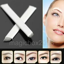 Makeup Microblading Needles 9 Pin Manual Permanent Eyebrow Tattoo Blade Needle