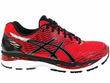 NEW MENS ASICS GEL-NIMBUS 18 RUNNING SHOES TRAINERS RACING RED / BLACK / SILVER