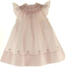 Girls Pink Smocked Angel Bishop Dress with Pearls Feltman Brothers