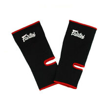 Fairtex Muay Thai Kick Boxing MMA K1 Ankle Guard Protection Supports AS1 Black
