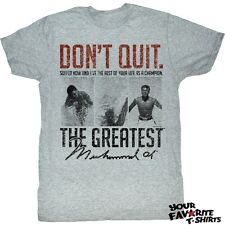 Licensed Muhammad Ali Suffer Now Adult Shirt S-2XL