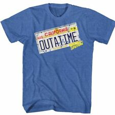 Back To The Future OUTATIME Delorean License Plate Adult Shirt S-2XL