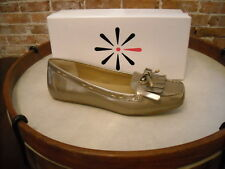 Isaac Mizrahi Bailey GOLD PATENT Bow Moccasin Loafer NEW