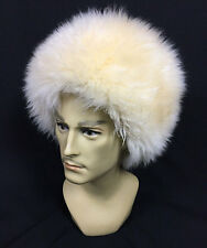 UZBEK TURKMEN CAUCASUS TRADITIONAL LONG FUR HAT-TELPAK, PAPAHA IVORY COLOR #7002