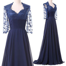 Plus Size Womens Formal Long Evening Dress Lace Mother of the Bride/Groom Dress