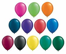Pack of 10 Qualatex Latex Balloons - Radiant Pearl Colours - All Sizes (Helium)