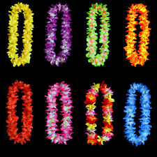 Hawaiian Leis Simulated Silk Flower Leis Dance Party Dress Garland 8 Color BD
